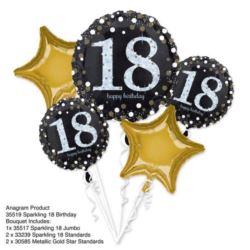 """Bukiet balonów """"18"""" w zestawie 5 szt."""