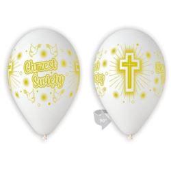 """Balony Premium Chrzest, 12 """" - biały, 5 szt."""