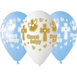 """Balony Premium Chrzest Chłopca , 13 """", 5 szt."""