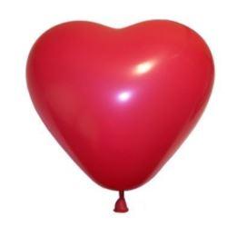 "Balon CR pastel ""Serce duże""- czerwone 5 szt."