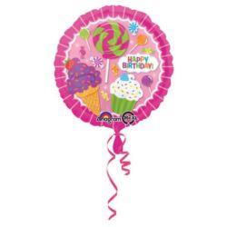 Balon foliowy HAPPY BIRTHDAY urodziny słodki bufet