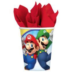Kubki Super Mario papierowe 250 ml / 8szt.