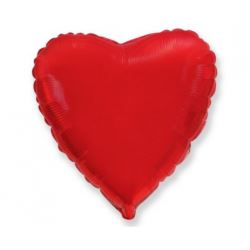 """Balon foliowy 18"""" FX - """"Serce"""" (czerwone), pakowan"""