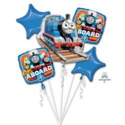 """balony, balony na hel, dekoracje balonowe, balony Łódź, balony z nadrukiem, Bukiet balonow """"Thomas"""" 5 balonów"""