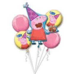 """Bukiet balonow """"Peppa Pig"""", balon foliowy, P75, za"""