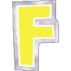 48 Naklejki Litera F