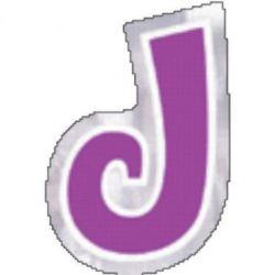 48 Naklejki Litera J
