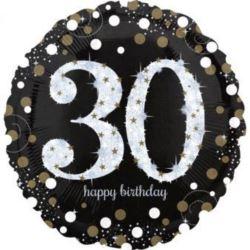 """Balon foliowy Jumbo""""30-urodziny"""" 71x71 cm"""