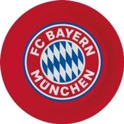 Talerz FC Bayern Monachium papier 23 cm / 8szt.