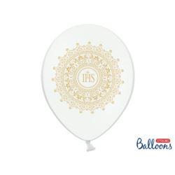 Balony 30cm, IHS, Metallic Pure White