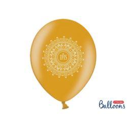 Balony 30cm IHS Metallic Gold