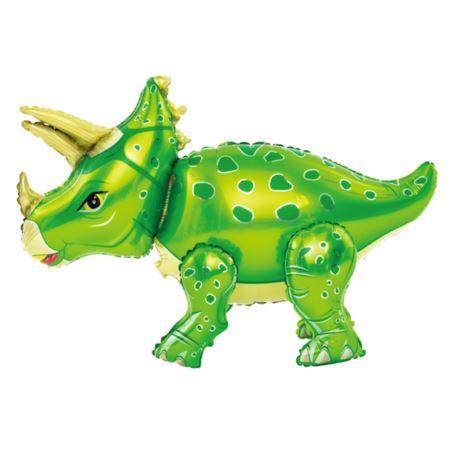 balony, balony na hel, dekoracje balonowe, balony Łódź, balony z nadrukiem Balon foliowy 3D triceratops zielony 55cm x 91cm