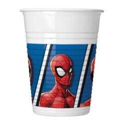 "Kubeczki plastikowe ""Spiderman Team Up"", 200 ml, 8"