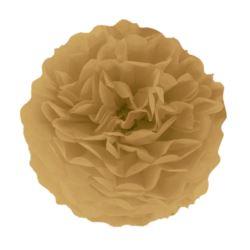 Pompon bibułowy, brązowy złoty, 35 cm