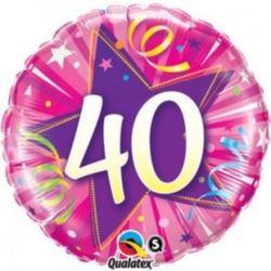 """Balon, foliowy 18"""" QL CIR """"40,różowy"""""""