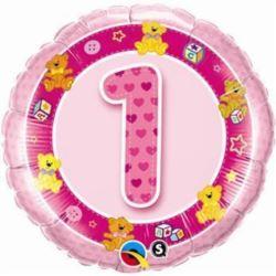 """Balon, foliowy 18"""" QL CIR """"1,różowy"""""""