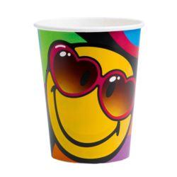 Kubki Smiley Express Yourself papierowe 266 ml