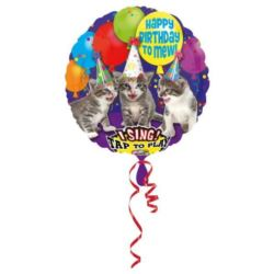 "Balon, foliowy ""Happy Birthday Miau"""