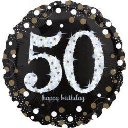 """Balon foliowy Jumbo """"50-urodziny"""" 71x71 cm"""