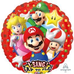"Balon foliowy ""Super Mario Brothers"" Sing-A-Tune"