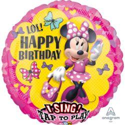 """Balon foliowy Sing-A-Tune """"Minnie Happy Helpers"""" ,"""