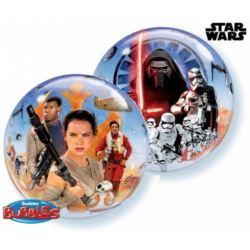 "Balon, foliowy 22"" QL Bubble Poj. ""Star Wars The F"