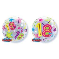 """Balon, foliowy 22"""" QL Bubble Poj.""""18 Urodziny"""""""