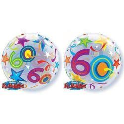 """Balon, foliowy 22"""" QL Bubble Poj. """"60 Urodziny"""""""