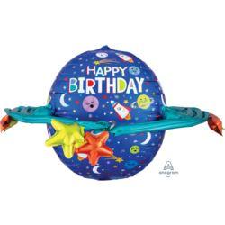 Balony foliowe Happy Birthday Galaxy 73 x 50cm