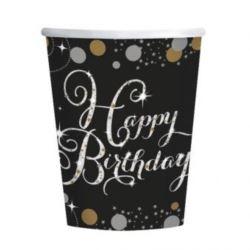 """Kubeczki """"Happy Birthday"""" uroczysto 8 szt."""