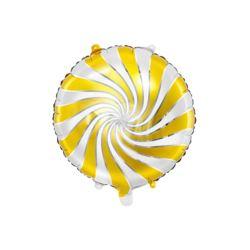 Balon foliowy Cukierek, 35cm, złoty 35 cm.