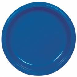 Talerze, plastik, niebieskie, 17,7 cm / 10szt.
