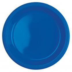 Talerze, plastik, niebieskie, 22,8 cm / 10szt.