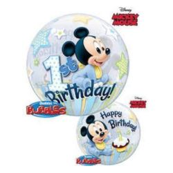 "Balon, foliowy 22"" QL Bubble Poj. Mickey Mouse 1 U"