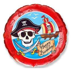 """Balon, foliowy 18"""" FX - """"Pirackie Happy Birthday"""""""