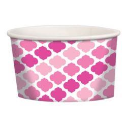 Pojemniki deserowe papierowe różowe