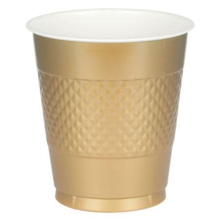 Kubki plastikowe złoty 473 ml 50 szt.