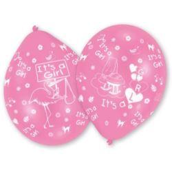 balony, balony na hel, dekoracje balonowe, balony Łódź, balony z nadrukiem, Balony lateksowe dla dziewczynek 25,4 cm 10 szt.