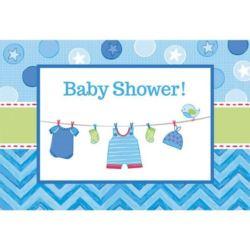 Zaproszenie z kopertami Baby Shower - chłopiec