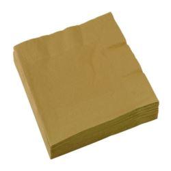 Serwetki papierowe złoty33x 33 cm