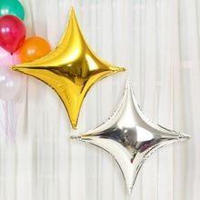 """balony, balony na hel, dekoracje balonowe, balony Łódź, balony z nadrukiem, Balon foliowy 10"""" Gwiazda złota"""