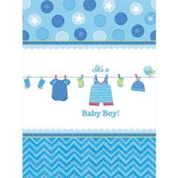 Obrus Baby Shower Chlopiec 138x259 cm