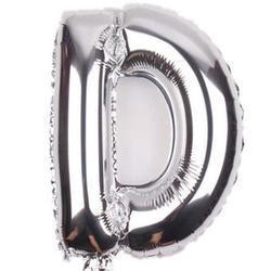 "Balon foliowy 16"", litera ""D"" srebrne"