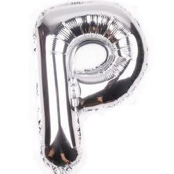 "Balon foliowy 16"", litera ""P"" srebrne"