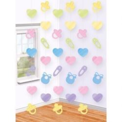 """balony, balony na hel, dekoracje balonowe, balony Łódź, balony z nadrukiem, Dekoracja wisząca """"Baby Shower"""" 210 cm"""