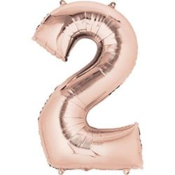 "Balon foliowy cyfra ""2"" Rose Gold"