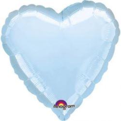 balony, balony na hel, dekoracje balonowe, balony Łódź, balony z nadrukiem, Balon, foliowy met serce - j. niebieski
