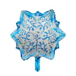 Balon foliowy śnieżka niebieska