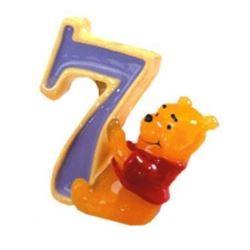"""Świeczka """"Winnie"""" cyferka """"7"""""""