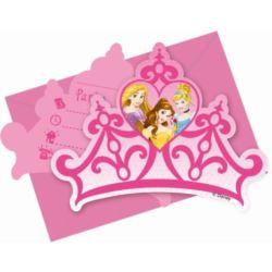 """Zaproszenia """"Princess Dreaming"""" z kopertami"""